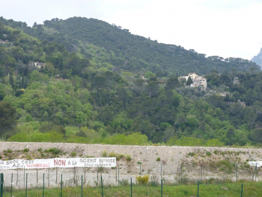 C'est sur ce site, en bordure d'Estéron qu'est prévue la centrale de cogénération par la biomasse.