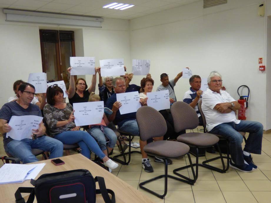 Au moment du vote, les anti-usine de cogénération ont brandi leurs pancartes en silence.