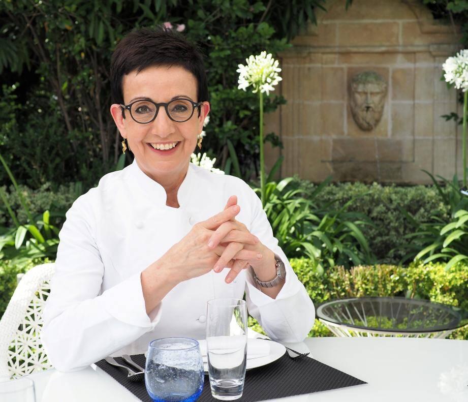 Carme Ruscalleda à L'Odyssey hier, où sa cuisine sera proposée tout l'été à la carte du restaurant.