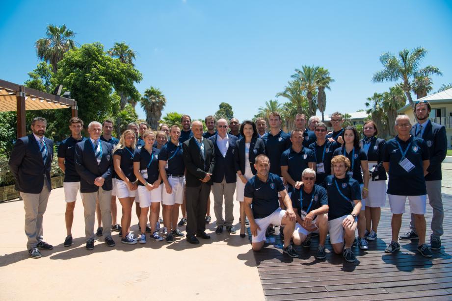 Le prince Albert aux côtés de la délégation monégasque en lice à Tarragone pour ces 18es Jeux méditerranéens.