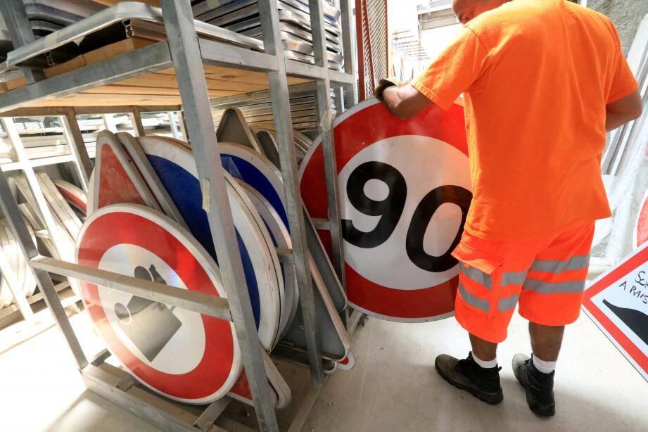 Les panneaux de 90 km/h bientôt de retour?