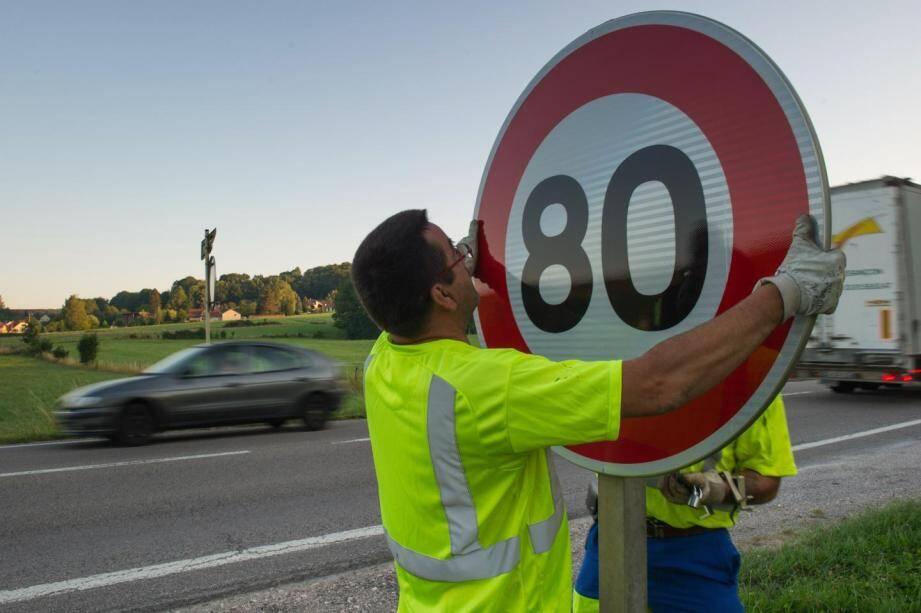 La limitation à 80 km/h sur le réseau secondaire sera effective à partir du 1er juillet.