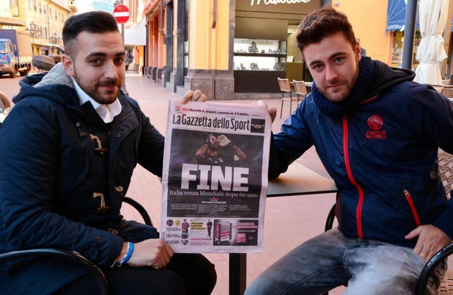 Au lendemain du match, le moral était au plus bas. Réaction des Italiens à la non qualification de  l'italie à la coupe du monde 2018 (Russie)