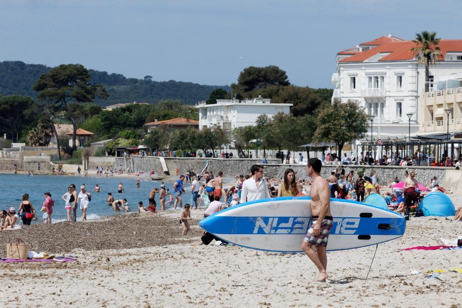 La plage des Sablettes à La Seyne-sur-Mer.