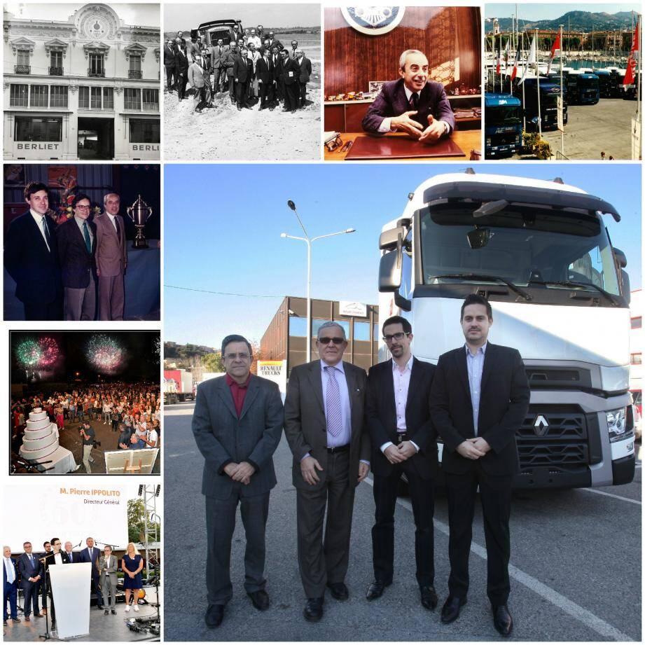 De la succursale niçoise, avenue des Fleurs à la célébration de son cinquantenaire à l'hippodrome de Cagnes-sur-Mer la semaine dernière, Azur Trucks est resté  une entreprise familiale. Trois générations de Ippolito se sont succédé à la tête du groupe.