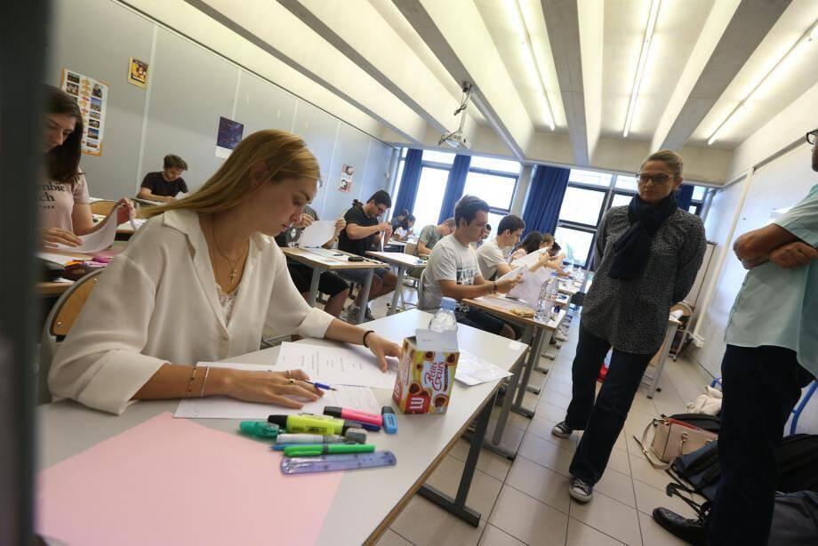 Première épreuve dans un lycée de Fréjus.