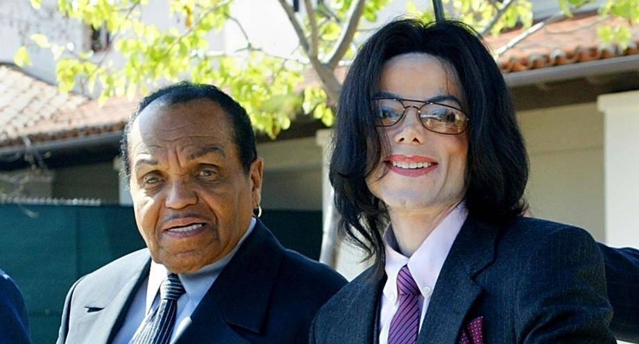 Joe Jackson et son fils Michael en 2005.