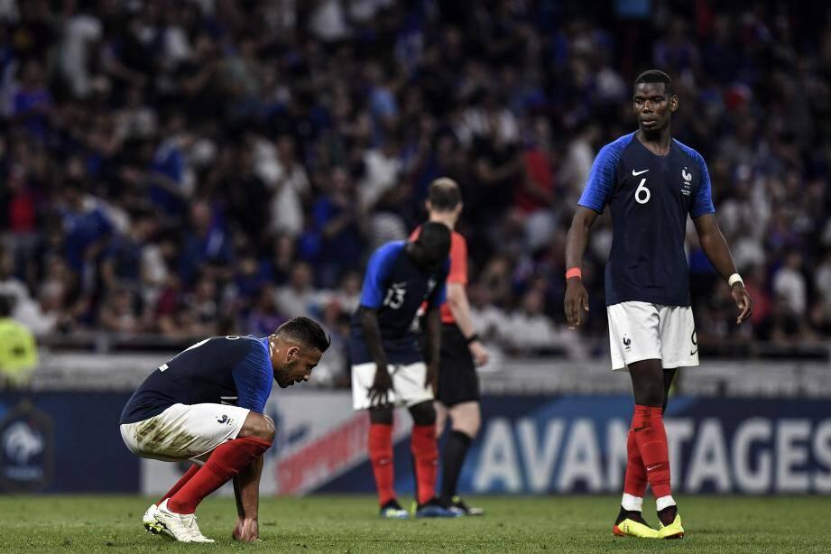 L'Equipe de France a été tenue en échec par les Etats-Unis.
