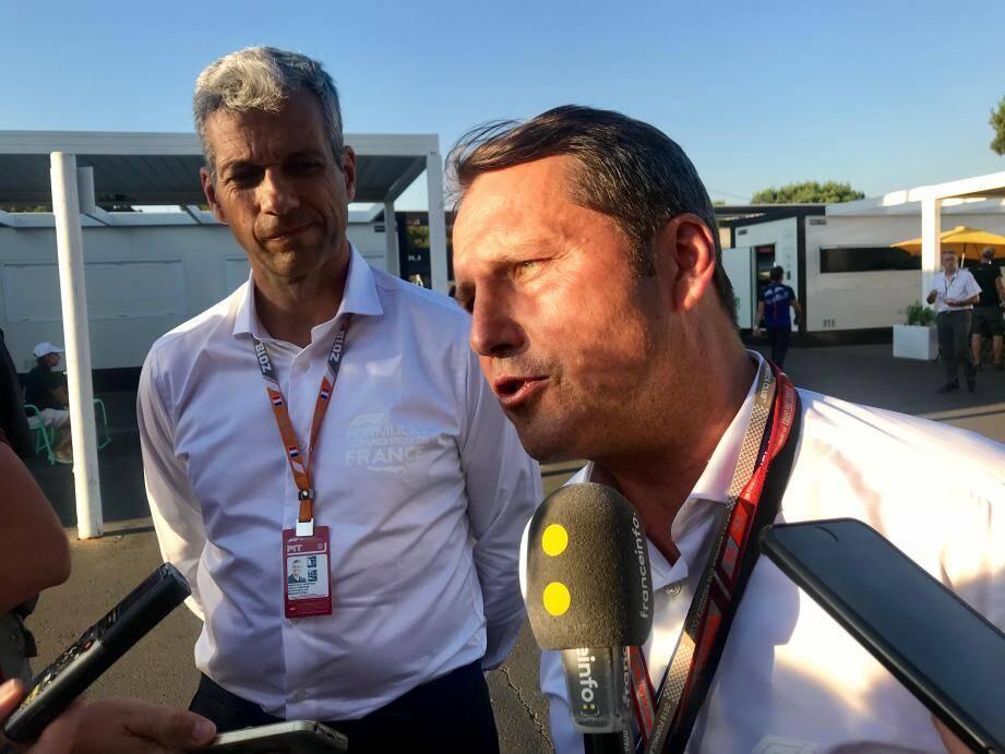 Gilles Dufeigneux, directeur du Grand Prix de France, lors du point-presse.