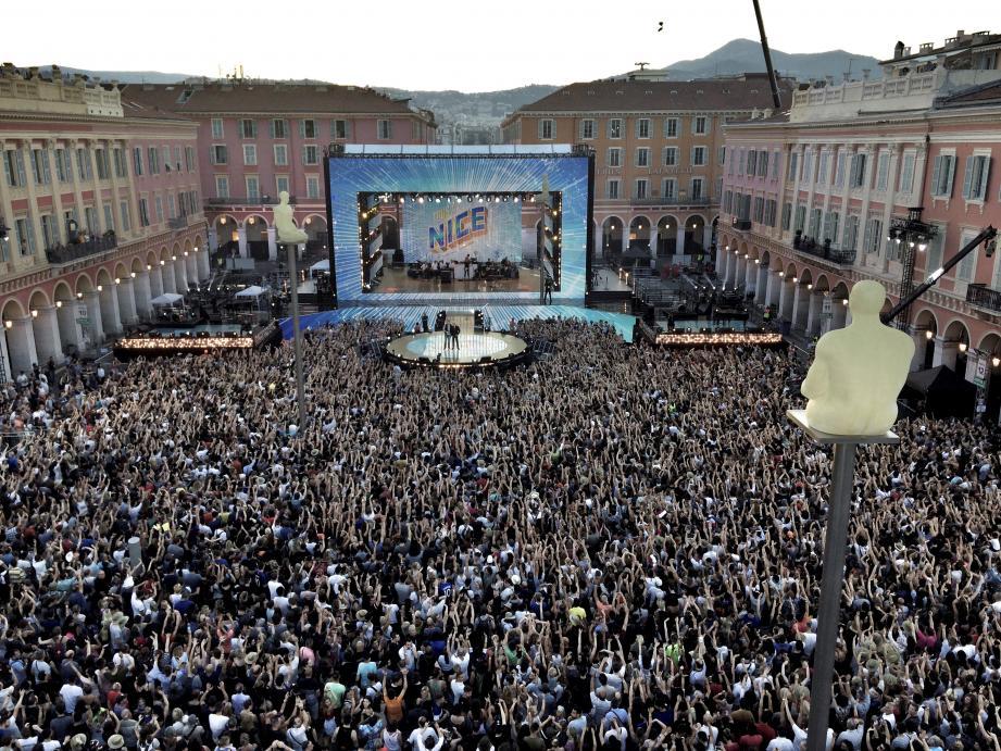 La Fête de la musique 2018 à Nice a attiré, jeudi soir, 30.000 spectateurs mais seulement un téléspectateur sur sept.