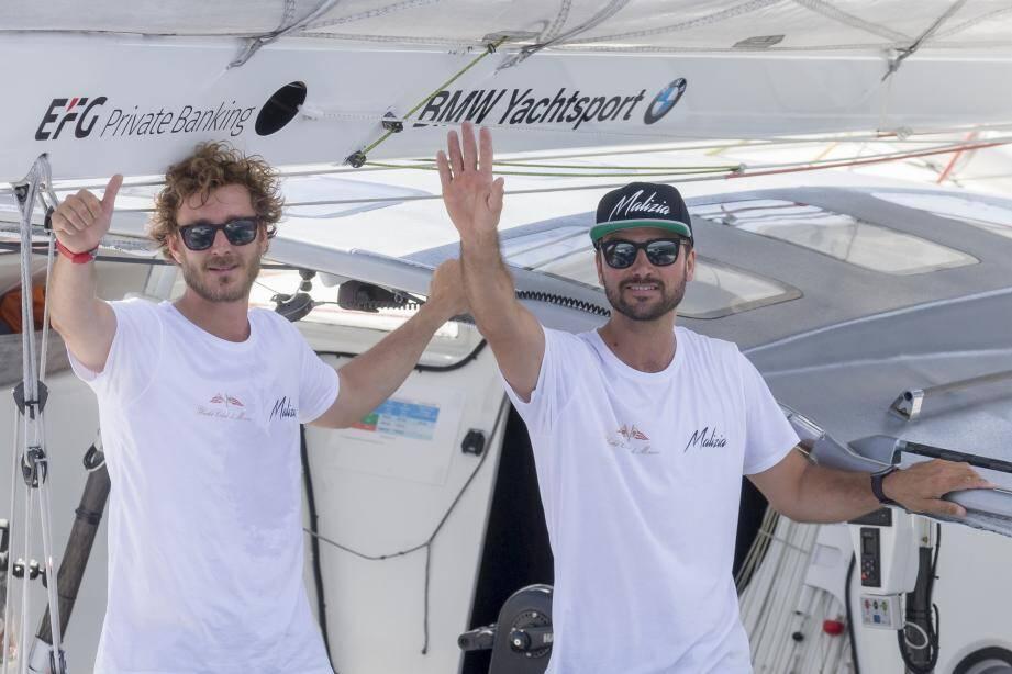 Pierre Casiraghi et Boris Herrmann, ont pris le départ à 13 heures.