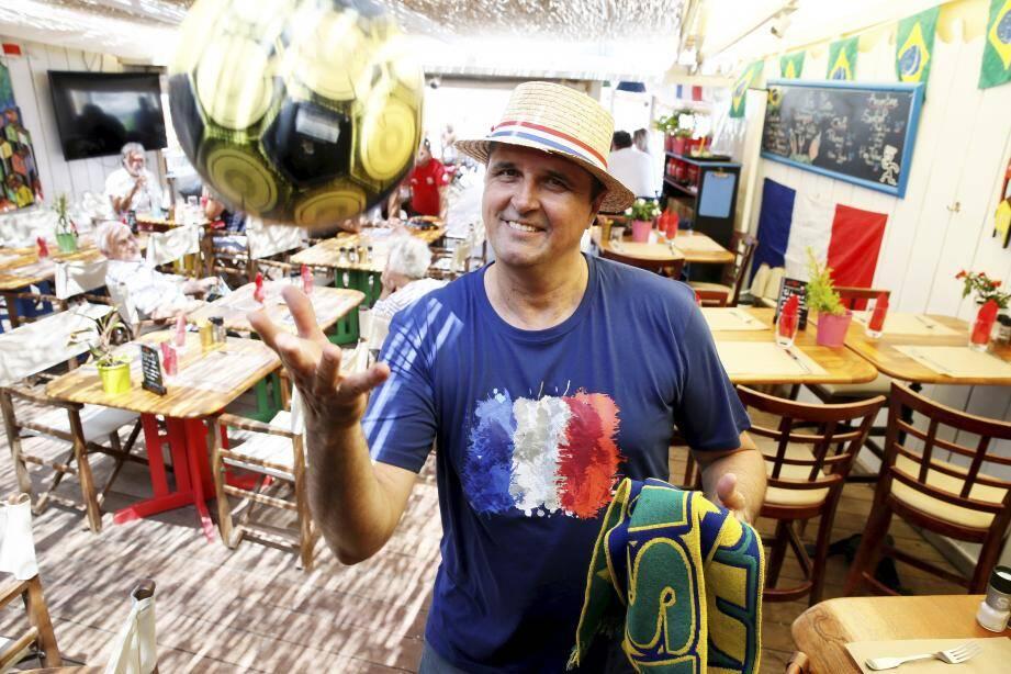 SAINT-AYGULF, le 12/06/2018, préparatifs de la coupe du monde au BOTAFOGO.papier Philippe MICHON