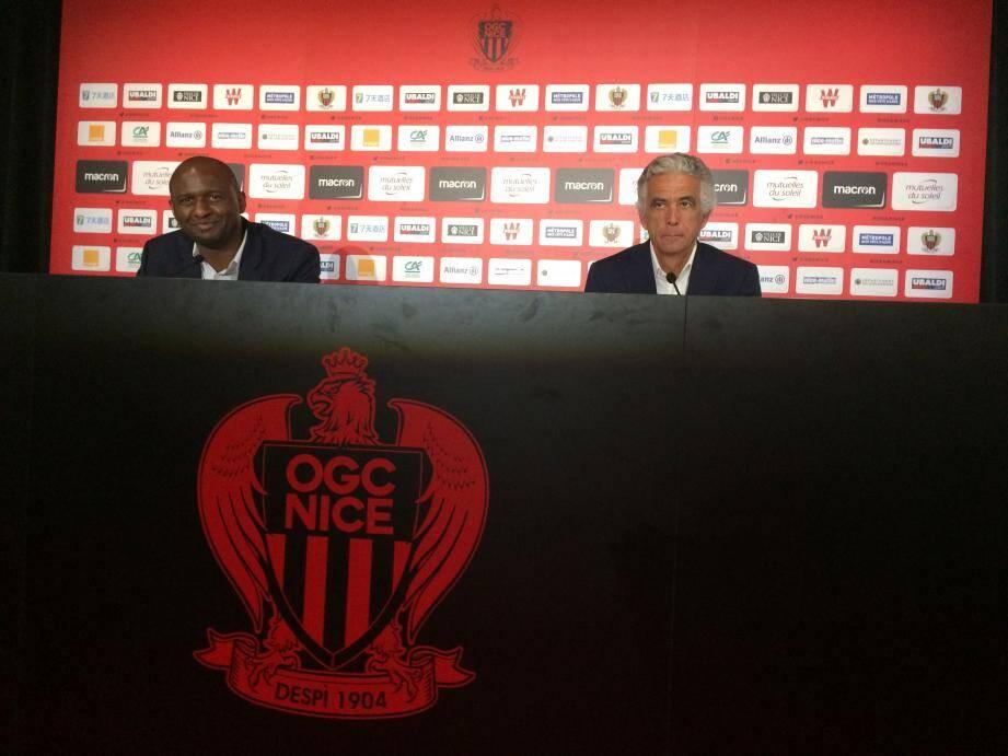 Patrick Vieira a été présenté à la presse ce lundi.