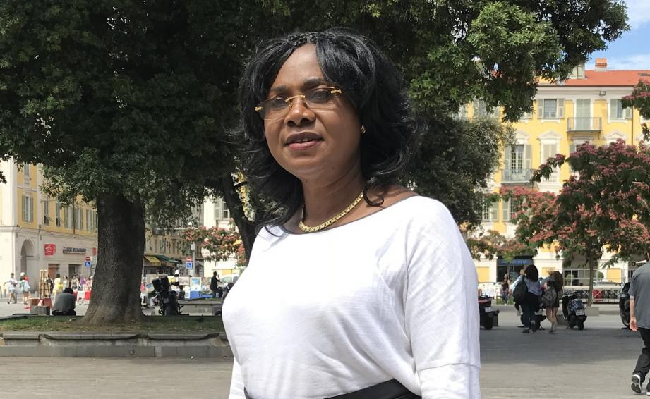 Pauline Mbaku la présidente de l'association Espoir de Vivre qui organise avec la mairie de Nice la journée d'information sur la drépanocytose.