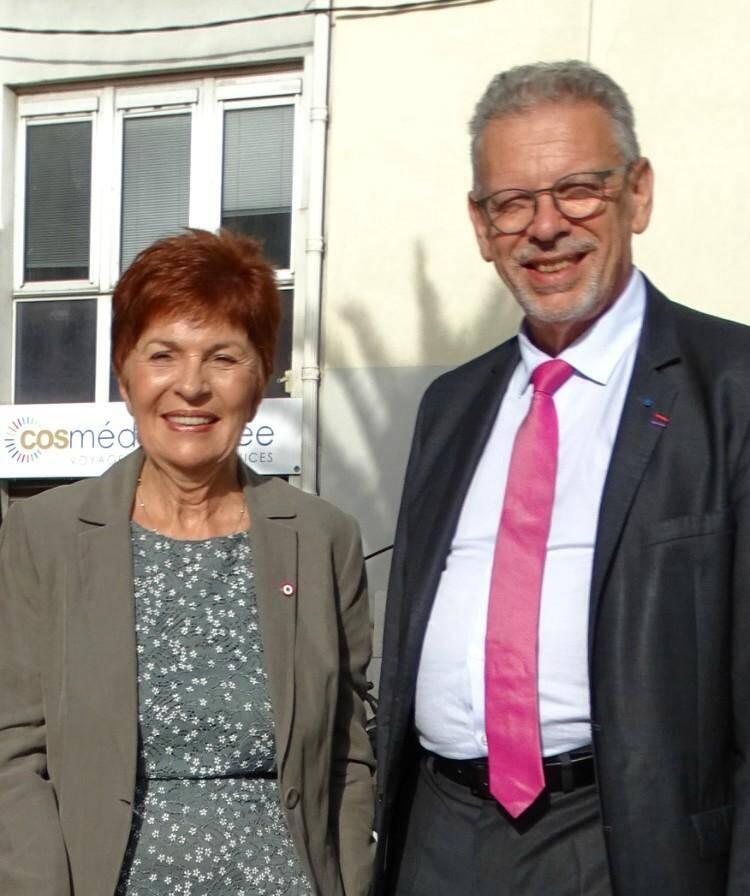 Les députés du Var Geneviève Levy et Jean-Louis Masson (LR).