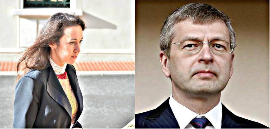 Tetiana Bersheda (à gauche) et Dmitry Rybolovlev (à droite)