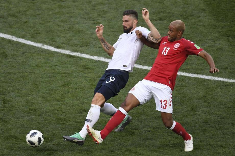 Olivier Giroud a été poussif et bien moins performant que face au Pérou.