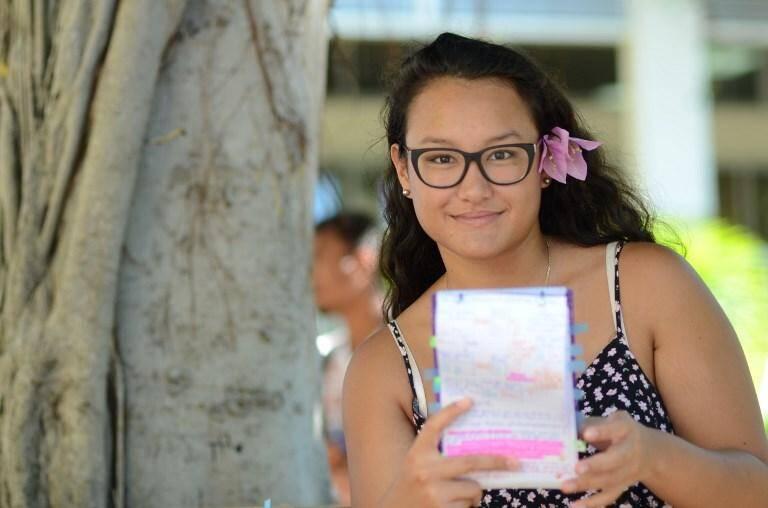 Ranitea Gobrait, major du bac en Polynésie, le 6 juillet 2018 à Papeete.