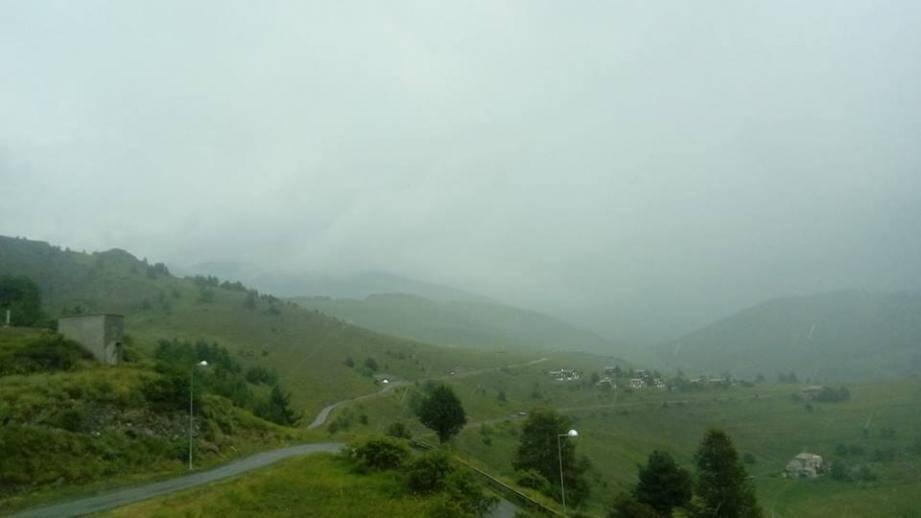 Les orages à Valberg.