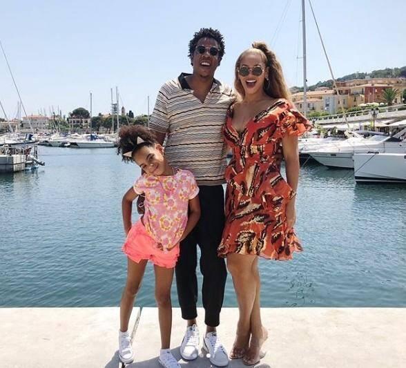 Beyoncé, Jay Z et leur fille Blue Ivy à Saint-Jean-Cap-Ferrat.  (Compte Instagram @beyonce)