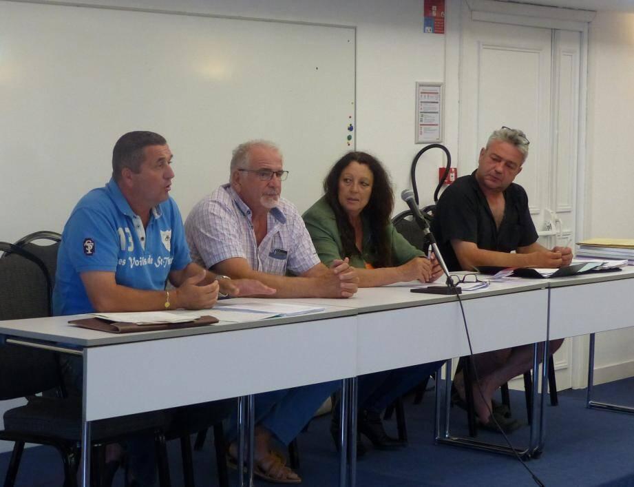 Laurent Faudon a pris la parole aux côtés de François Bertolotto, Lise Boissier- Cerato et Jean-Christophe Giraud.