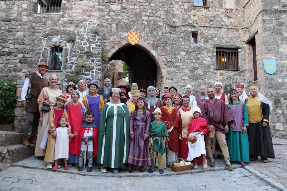 Répétition générale pour les acteurs et figurants des Flambeaux d'Arcus.