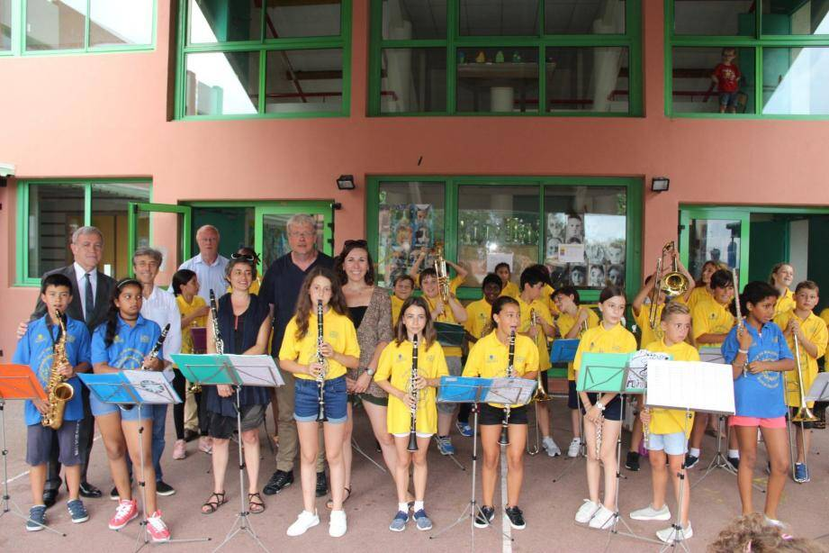 Les élèves ont offert un très beau concert, le dernier avant de rendre les instruments de musique.