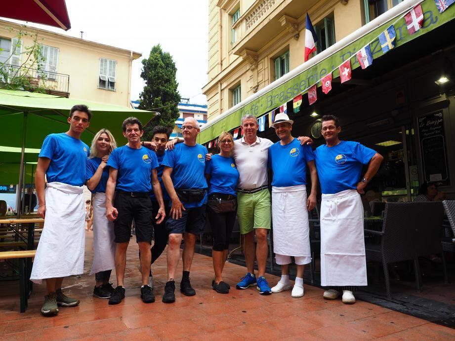 Le patron du Brazza et son équipe (Florent Bardos)