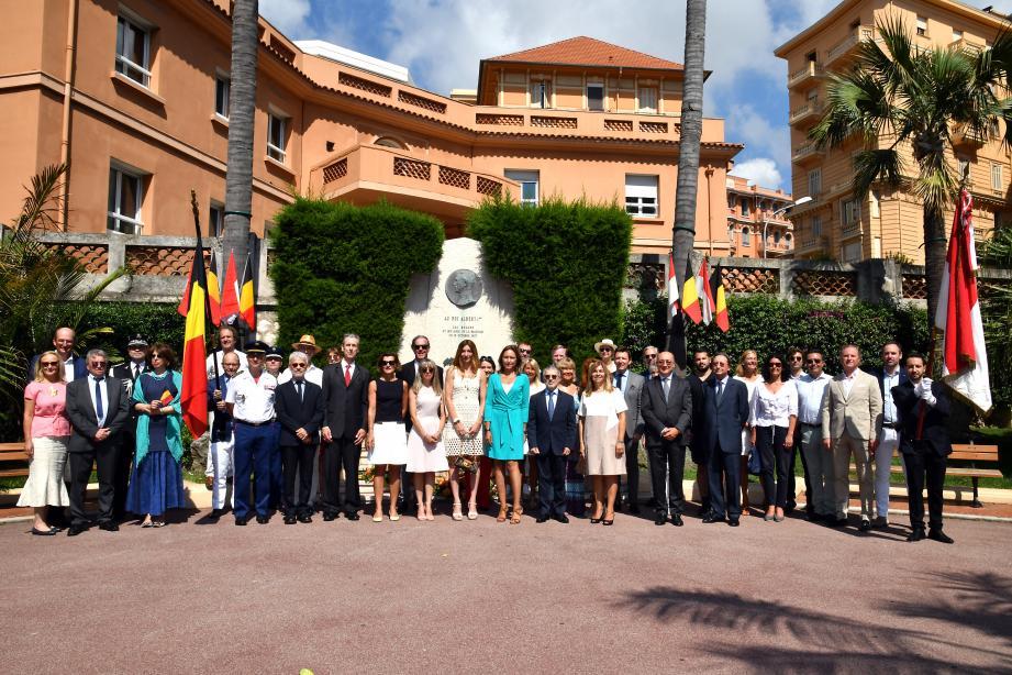La cérémonie a eu lieu samedi matin au pied du monument érigé à la mémoire du roi Albert-1er.(DR)