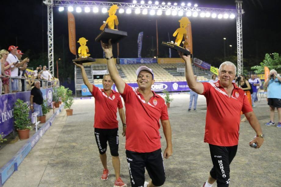 Jean-Pierre Gioe, Franck Millo et Eric Millo se sont offert un tour d'honneur.