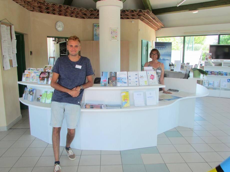 La semaine dernière, soit du 16 au 20 juillet, Marie-Jo et Robin ont accueilli et renseigné 140 personnes à l'accueil de l'office de tourisme.