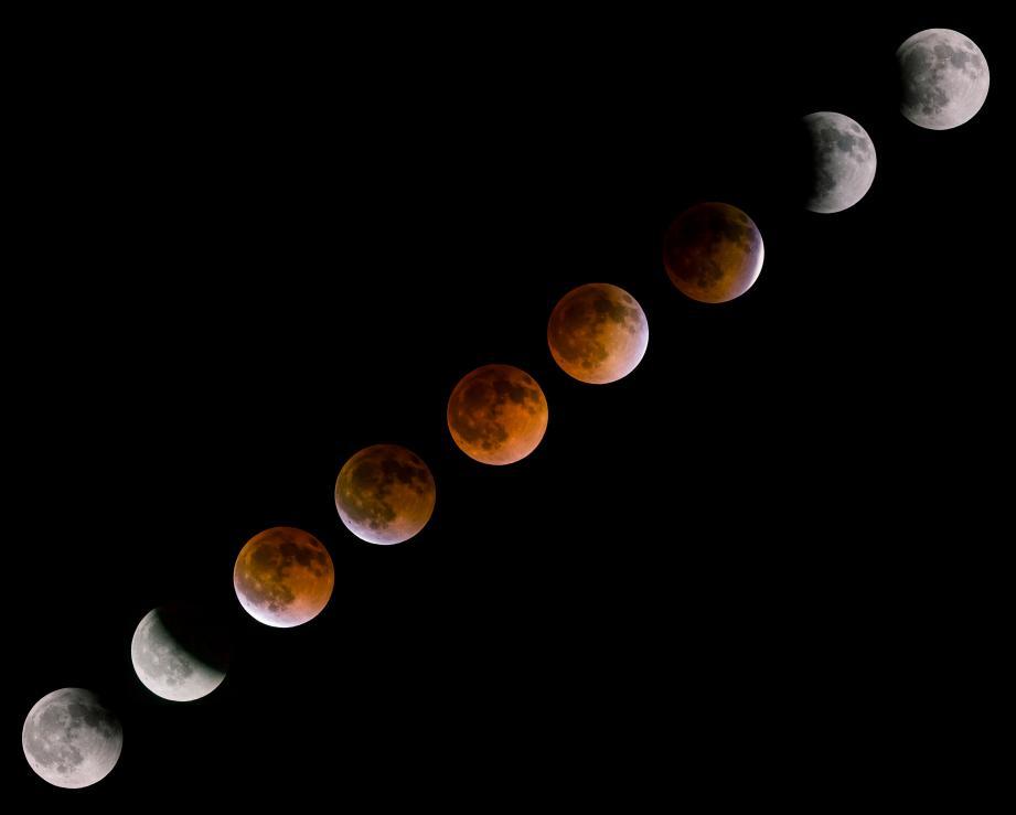 Le phénomène pourra s'observer entre 20 h 24 et 0 h 19, avec une éclipse totale de 21 h 30 à 23 h 13.