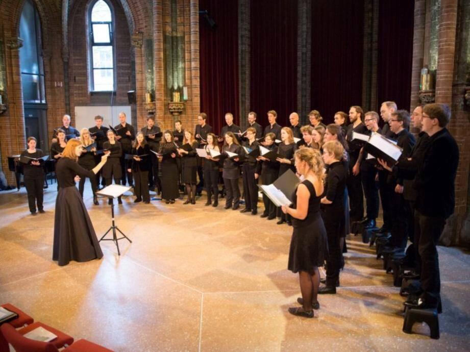 Les jeunes choristes du chœur néerlandais Vu-Kamertor.