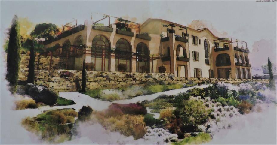 Le projet de la maison principale et du restaurant.