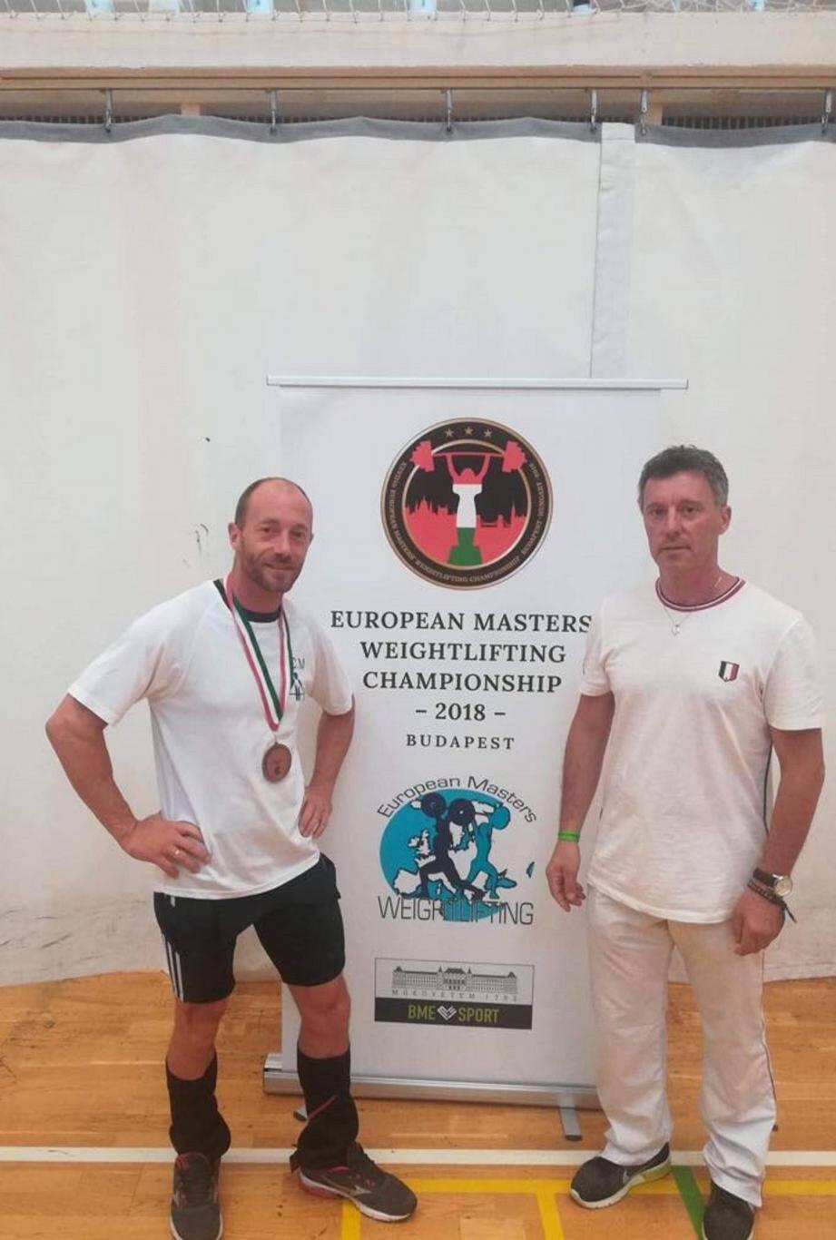 Edmond Wartelle et son entraîneur. (DR)