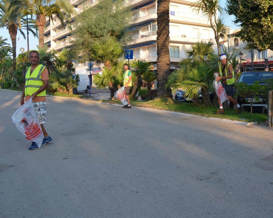 Les trottoirs et corbeilles sont inspectés les agents des services techniques dès 6 h.