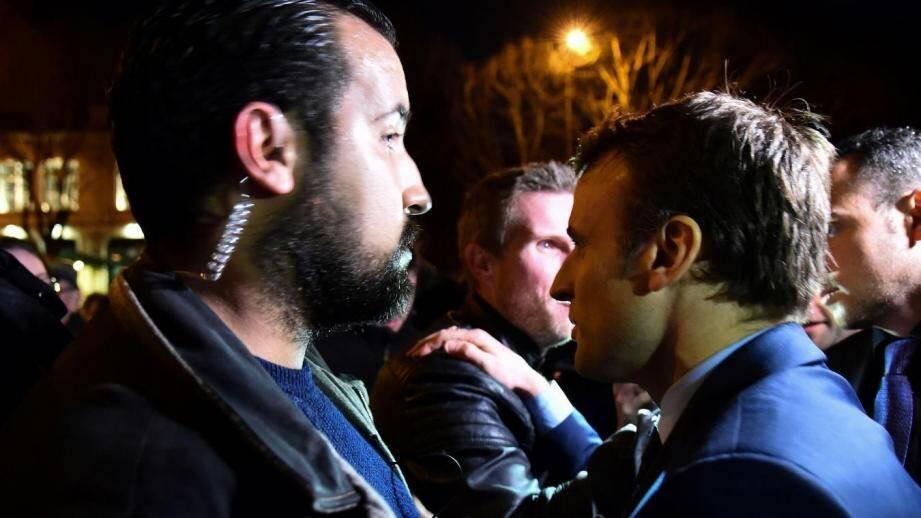 Alexandre Benalla et le président de la République Emmanuel Macron.