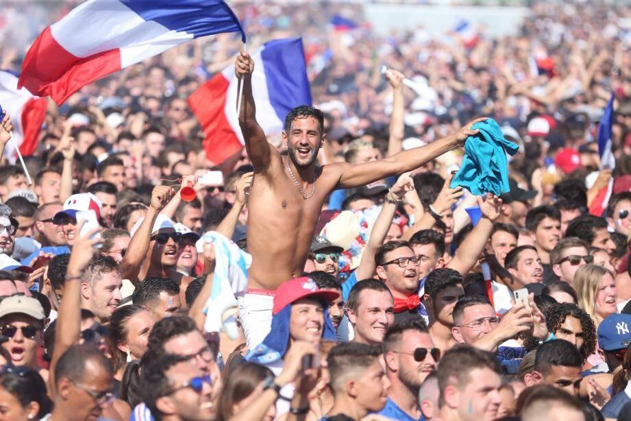 La fan zone de Nice, le 15 juillet 2018.