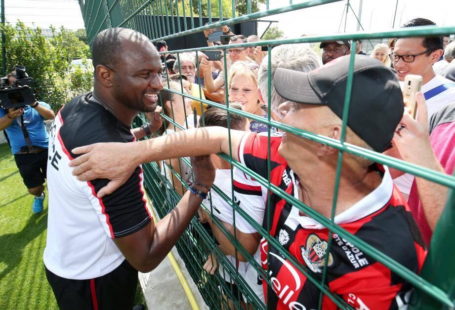 Patrick Vieira à la rencontre des supporters