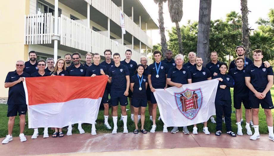 La délégation monégasque en lice pour ces 18es Jeux méditerranéens a fait honneur aux couleurs rouges et blanches.