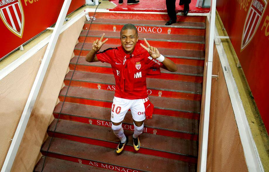 La dernière photo de Mbappé sous les couleurs monégasques.