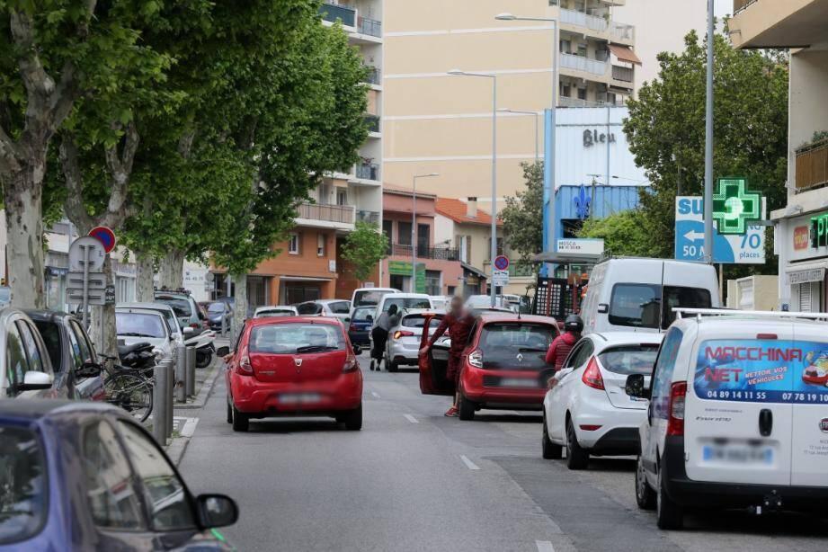 Le boulevard de la Madeleine, un axe noir de Nice en matière de trafic.