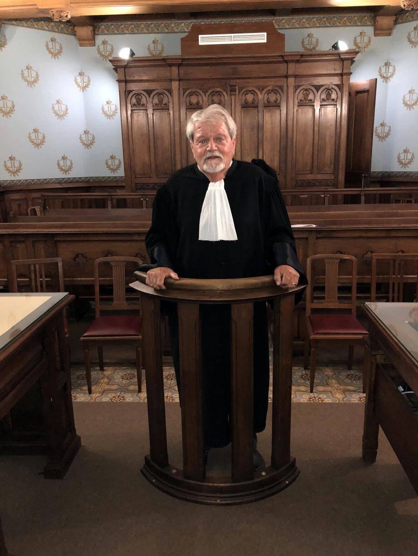 En sa qualité de doyen de l'Ordre des avocats et du palais de justice, Me Patrice Lorenzi a dit au revoir à la formation collégiale du tribunal correctionnel.
