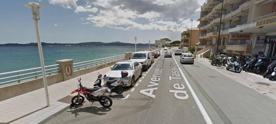 L'accident s'est déroulé ce mercredi matin à Sainte-Maxime, au niveau de l'hôtel La belle aurore avant le pont du Preconil.