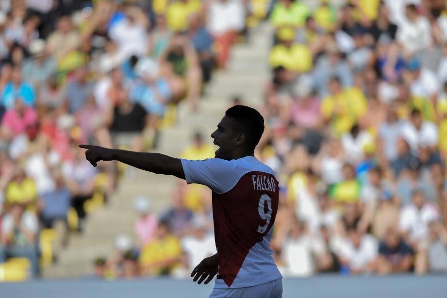 Radamel Falcao pendant le match contre le FC Nantes.
