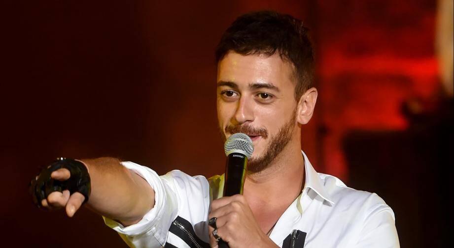 Saad Lamjarred lors d'un concert le 30 juillet 2016 en Tunisie.