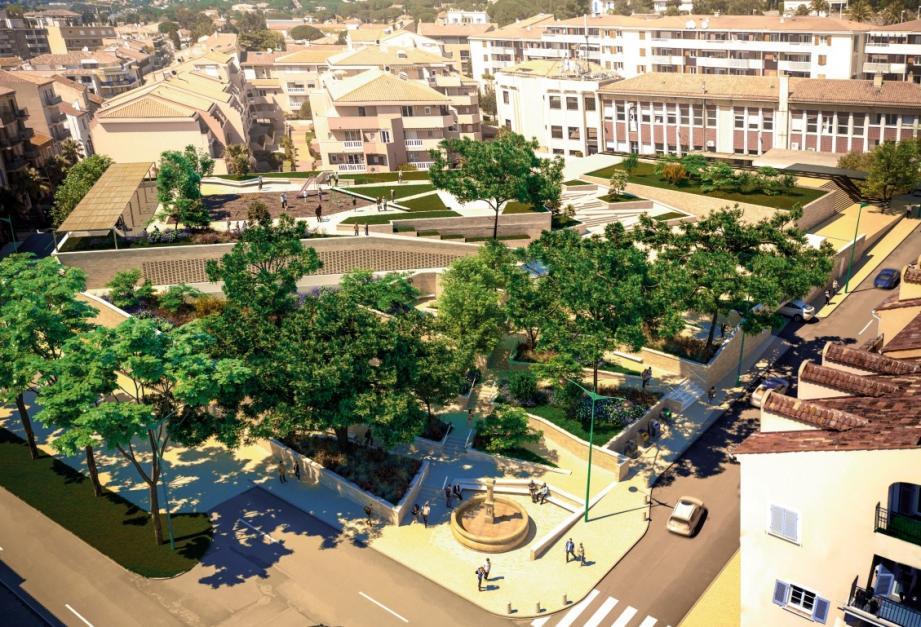 Le projet de la place Louis-Blanc, tel que présenté en avril dernier à la réunion publique.(Illustration DR)
