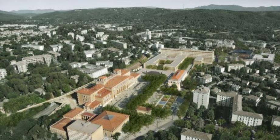 Le site principal de l'université Aix-Marseille, avenue Schuman à Aix-en-Provence.