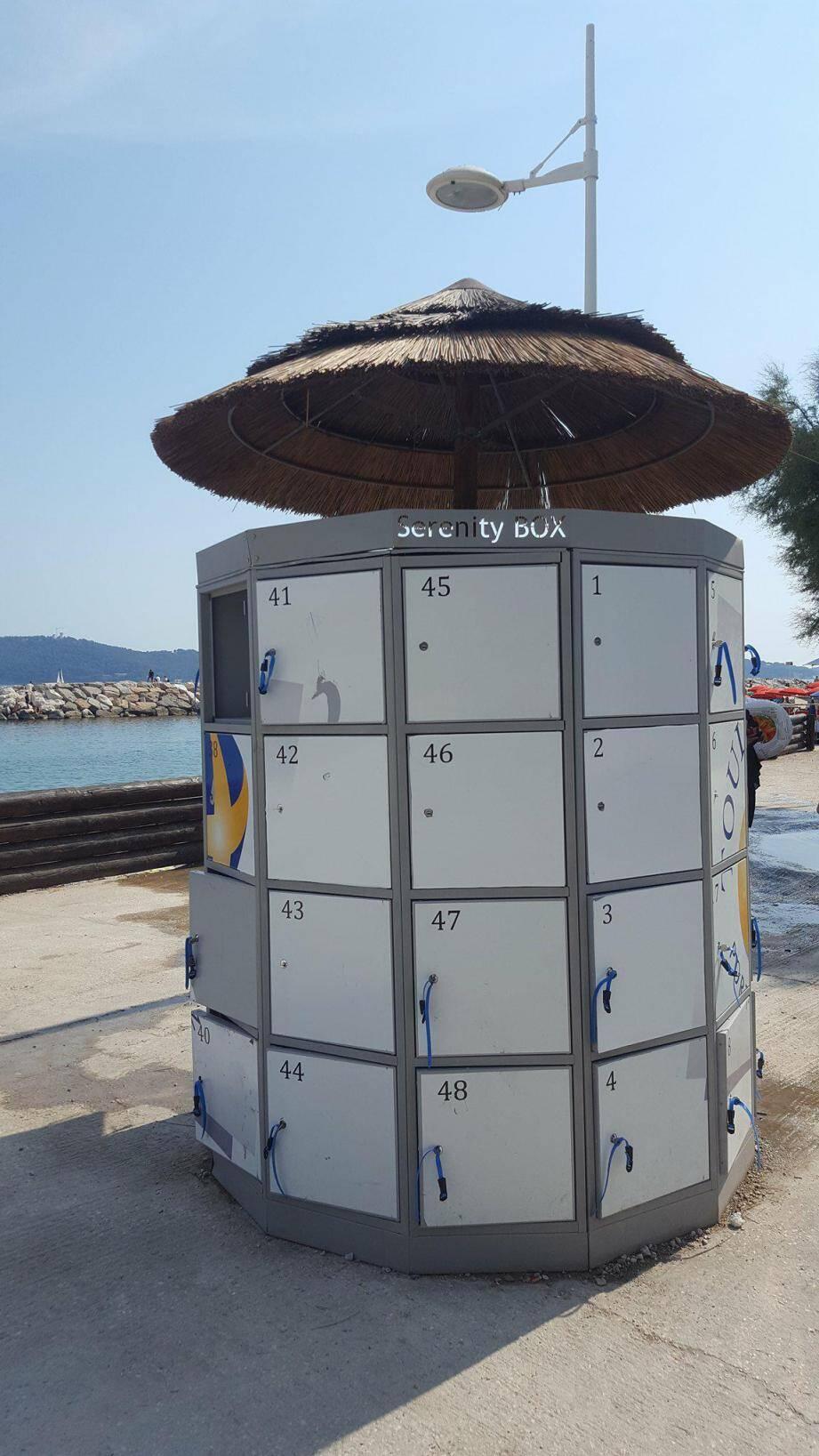 Trois serenity box sont disponibles sur les plages.