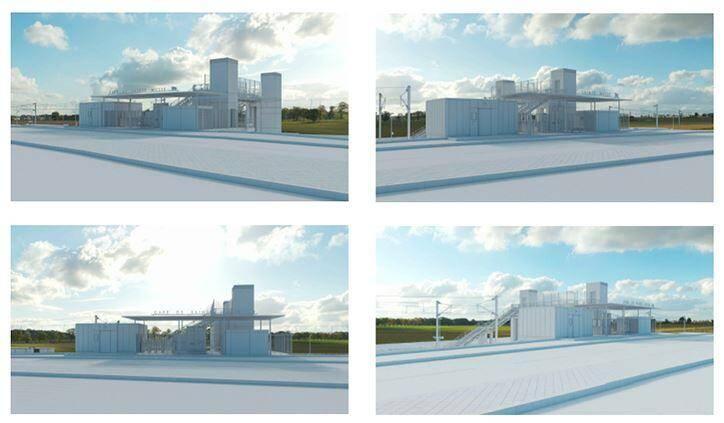 Vues d'architecte « non contractuelles » présentes sur le site Internet de la SNCF. (Repro. DR)